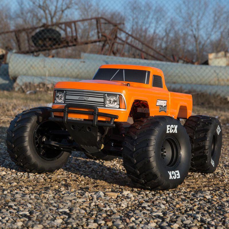 1/10 Amp Crush 2WD Monster Truck Brushed RTR, Orange