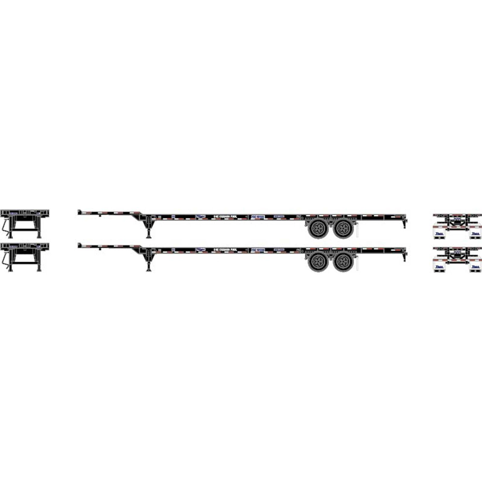 HO RTR 53' Chassis, CSX (2)