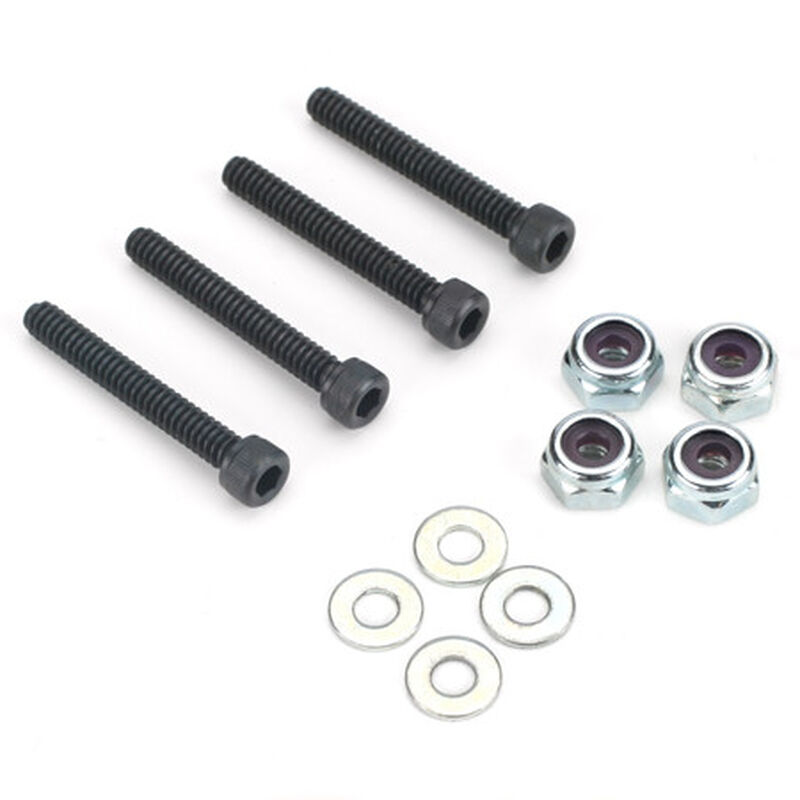 Socket Bolts with Nuts, 6-32 x 1""