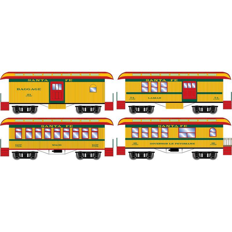 N 34' Old Time Overton Passenger Set, ATSF (4)