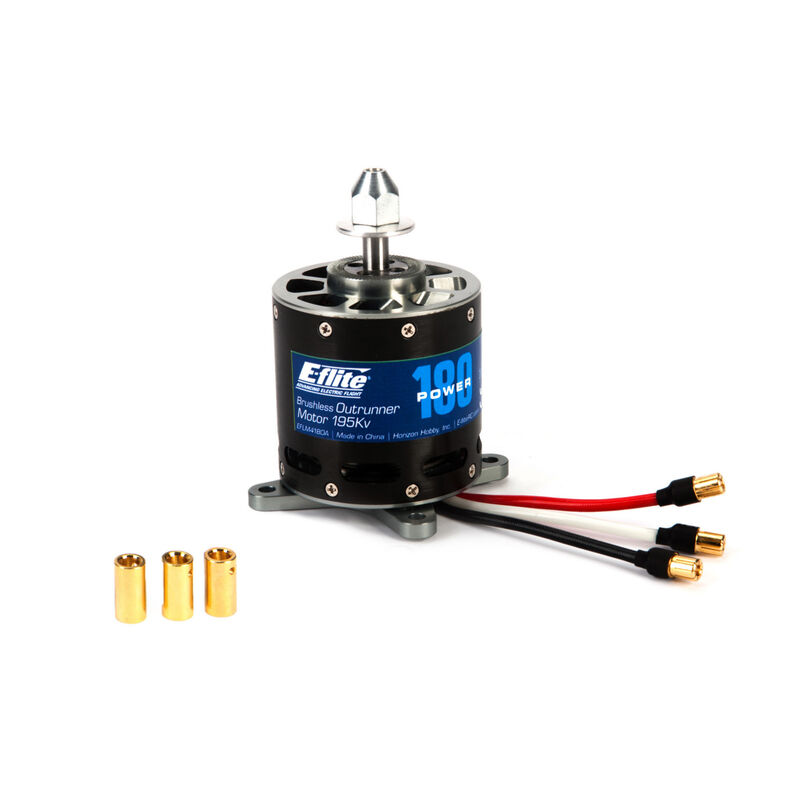 Power 180 Brushless Outrunner Motor, 195Kv: 6.5mm Bullet