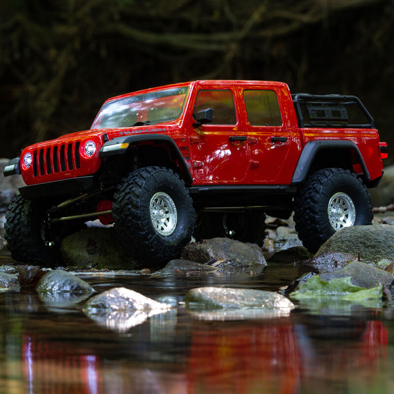 1/10 SCX10 III Jeep JT Gladiator Rock Crawler with Portals RTR, Red