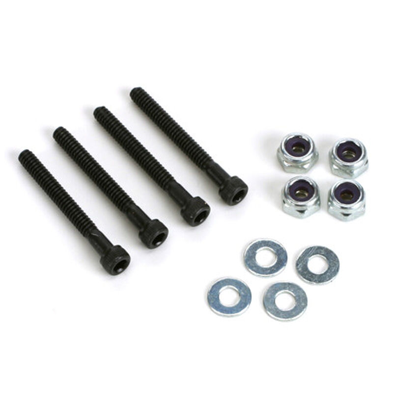 Socket Bolts with Nuts, 4-40 x 1""