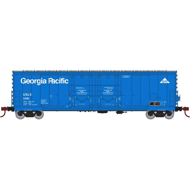 HO RTR 50' Evans DD Plug Box USLX Ga Pacific#11881