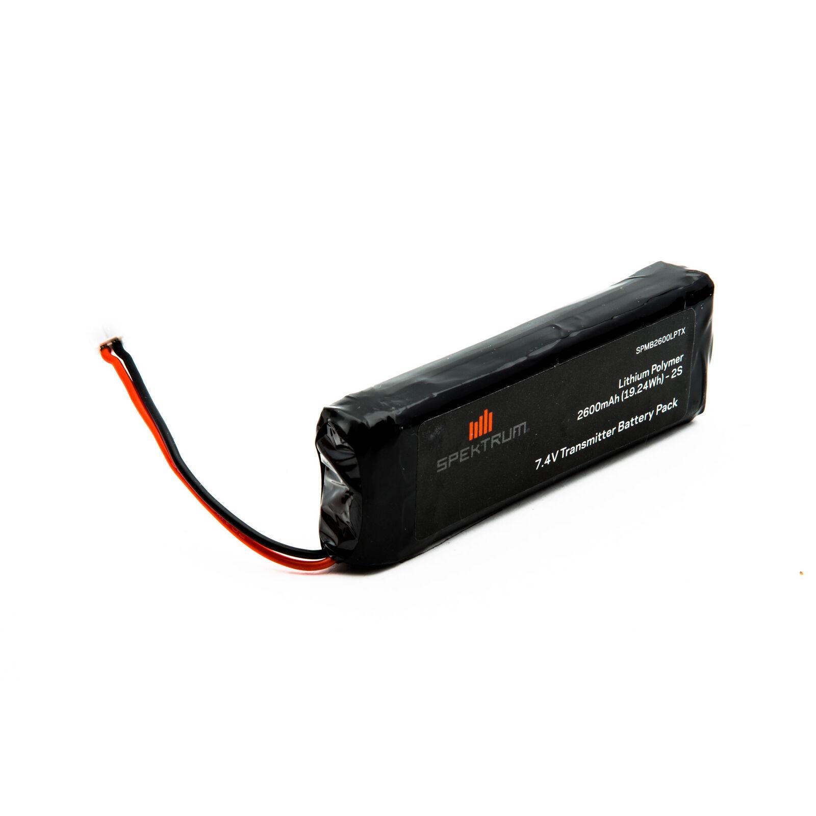 7.4V 2600mAh 2S LiPo Transmitter Battery: DX18