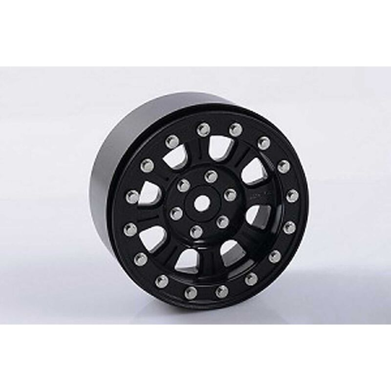 "Raceline Monster 2.2"" Beadlock Wheels (Black)"