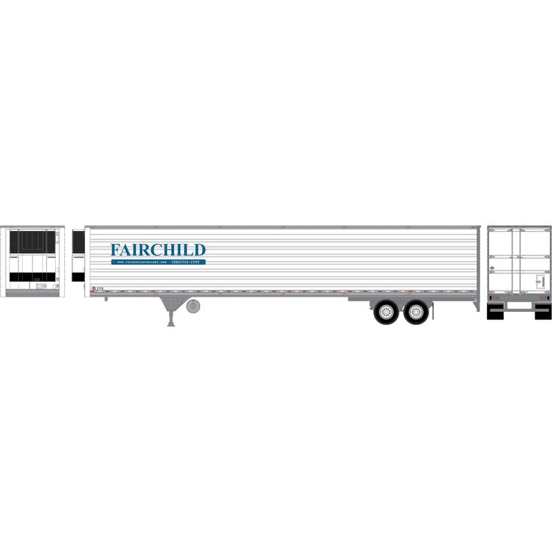 HO RTR 53' Utility Reefer Trailer Fairchild #175