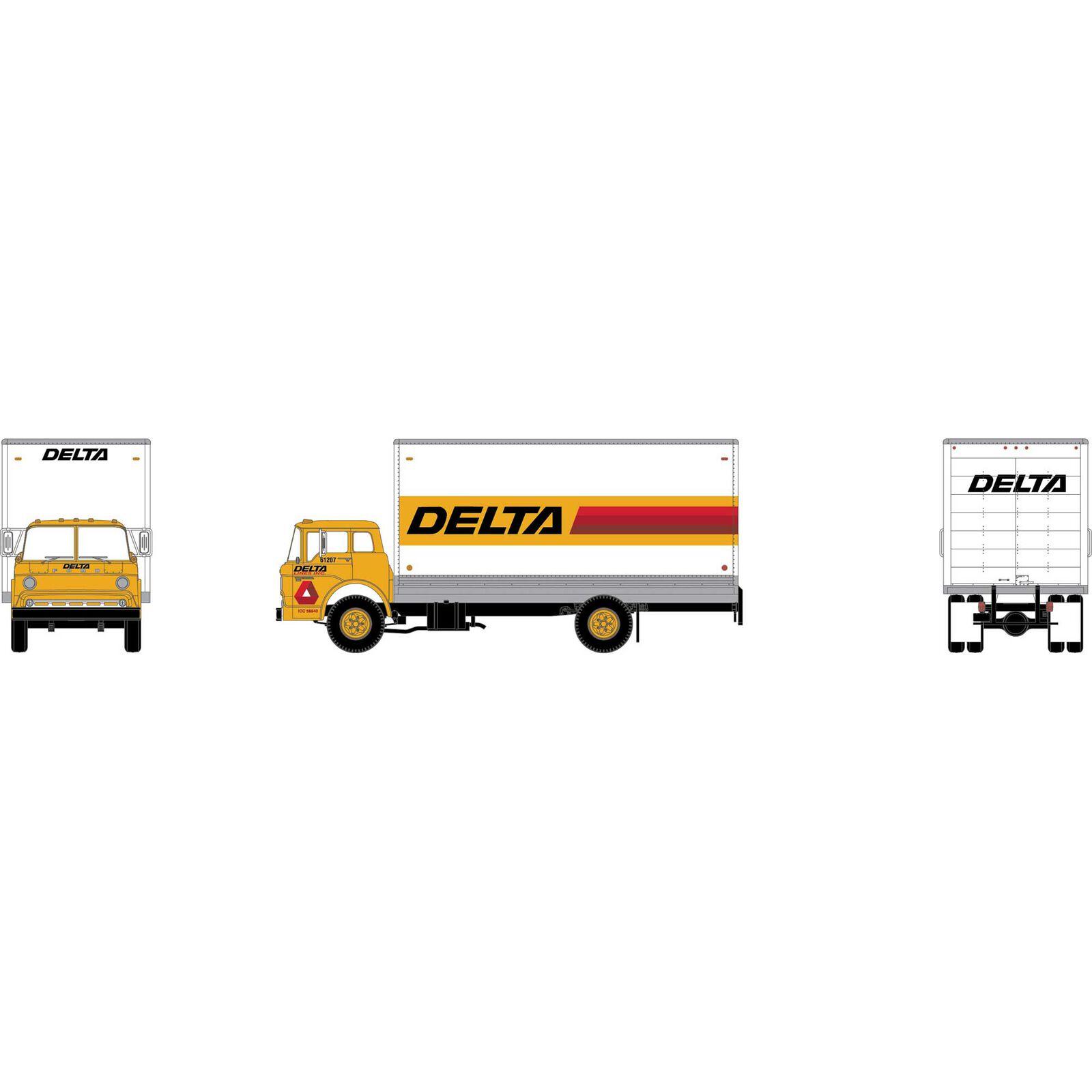 HO RTR Ford C Box Van, Delta