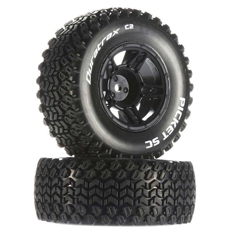 Picket SC C2 Mounted Tires: Traxxas Slash Front (2)