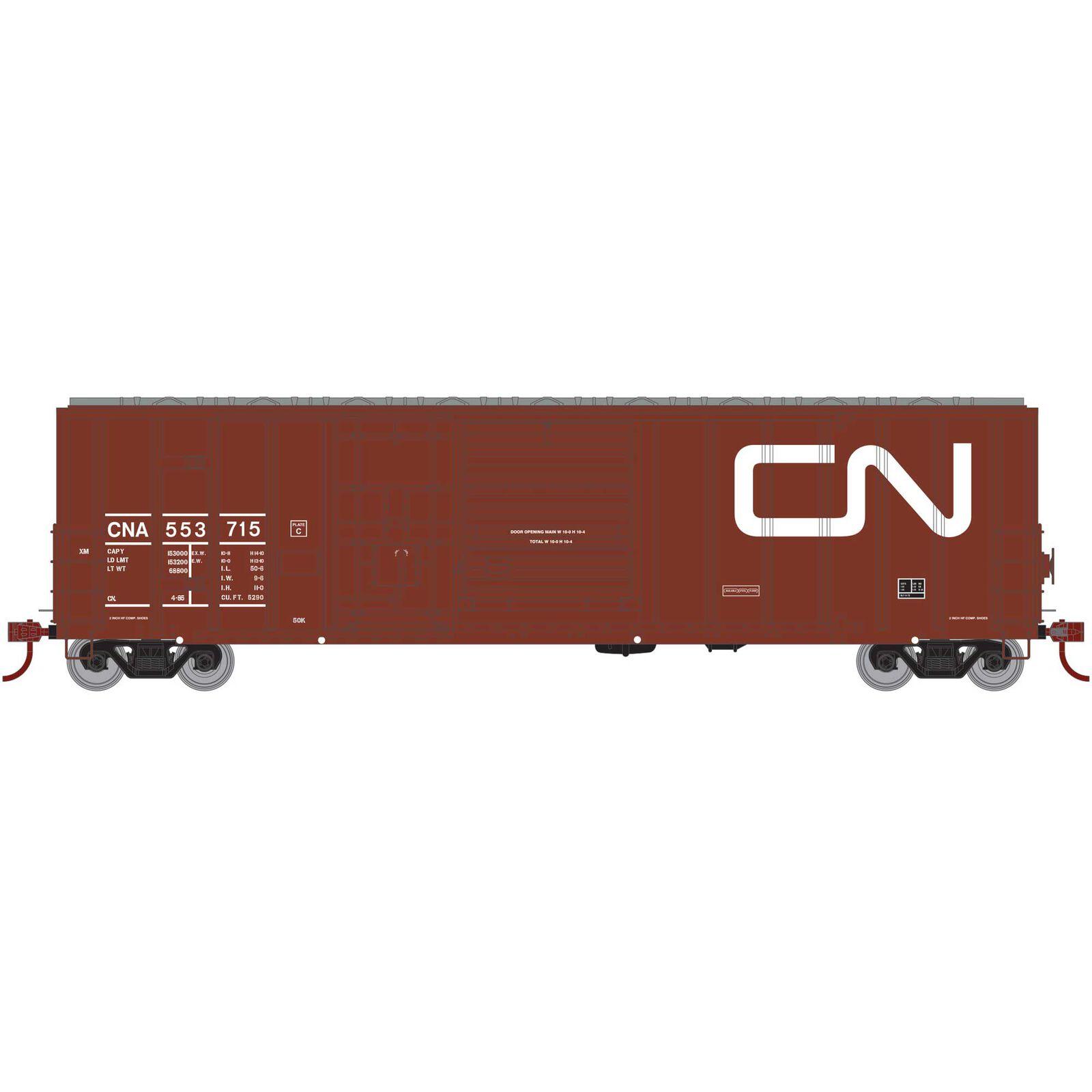 HO RTR 50' FMC Ex-Post Combo Door Box CN #553715