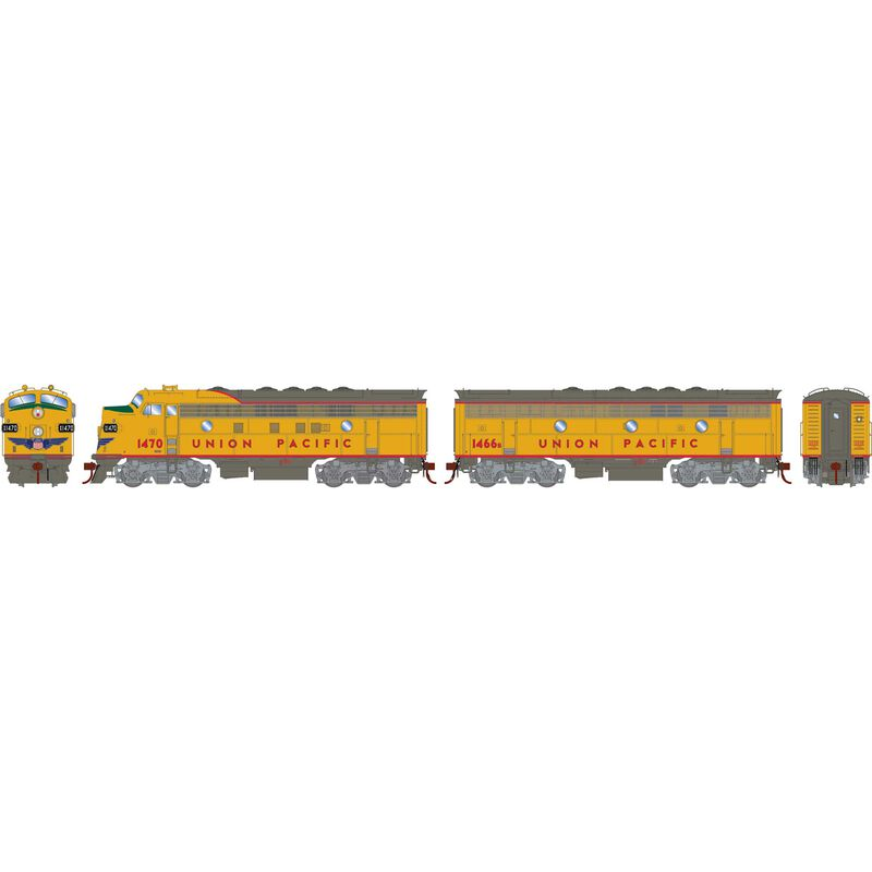 HO F7A F7B with DCC & Sound UP Freight #1470 #1466B