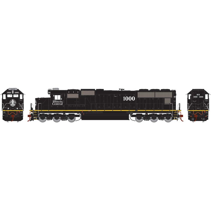 HO SD70 with DCC & Sound, IC/Yellow Stripe #1000