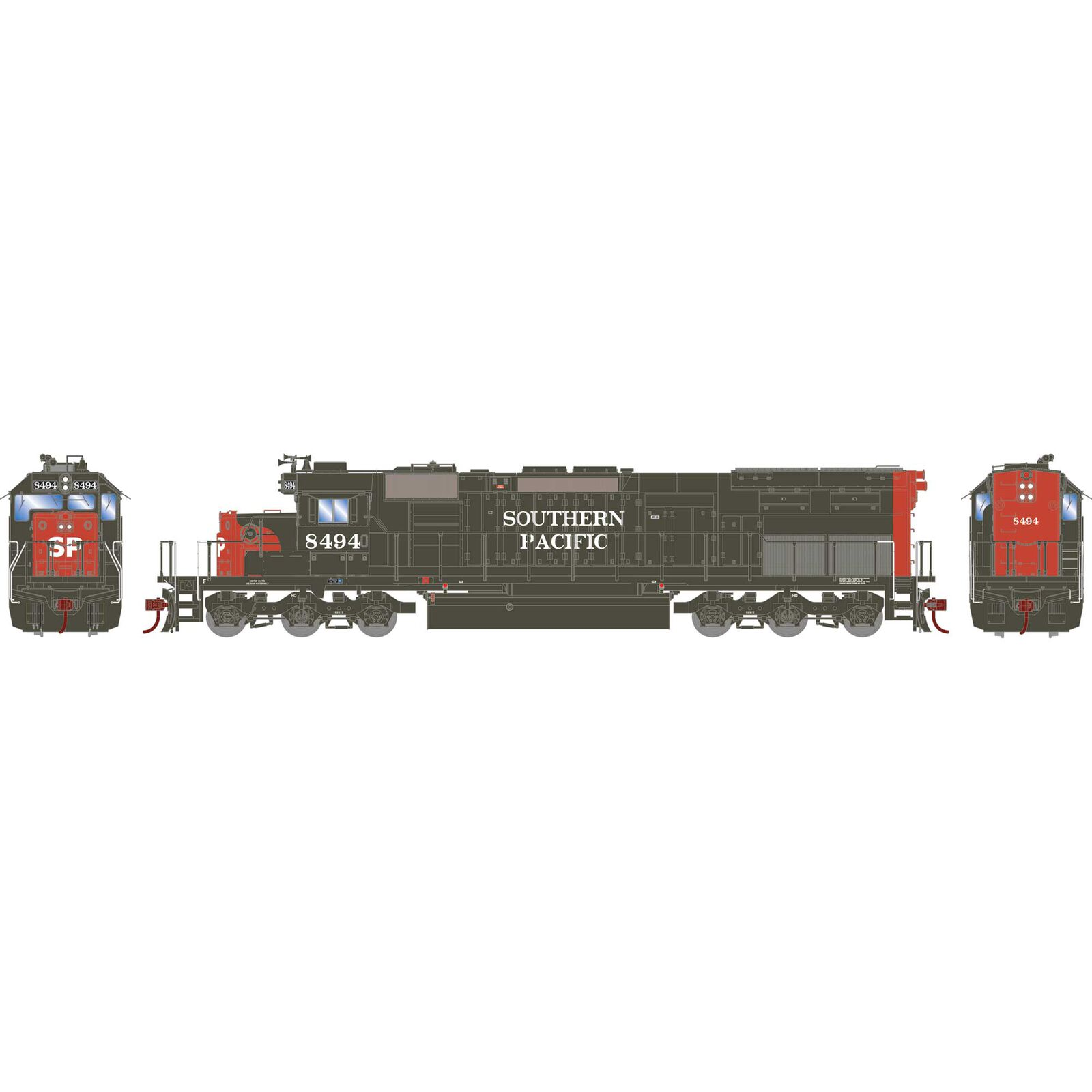 HO RTR SD40T-2 with DCC & Sound, SP #8494