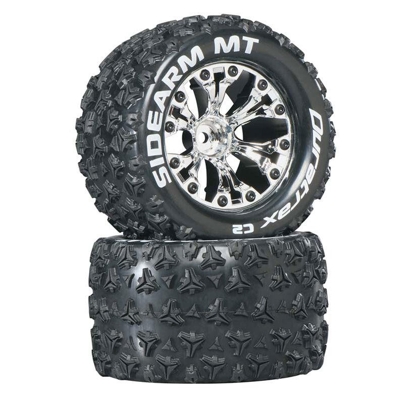 "Sidearm MT 2.8"" 2WD Mounted Rear C2 Tires, Chrome (2)"