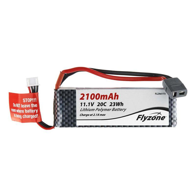 11.1V 2100mAh 3S 20C LiPo Battery: T-Plug