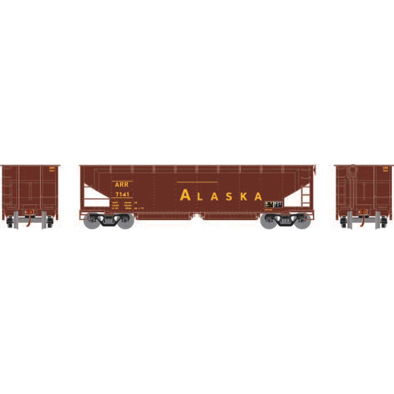 HO RTR 40' Offset Ballast Hopper with Load, ARR #7141