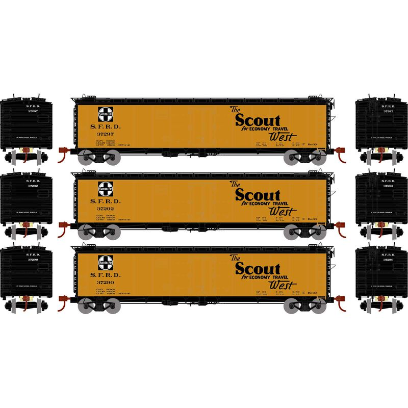 HO RTR 50' Ice Bunker Reefer SF The Scout (3)