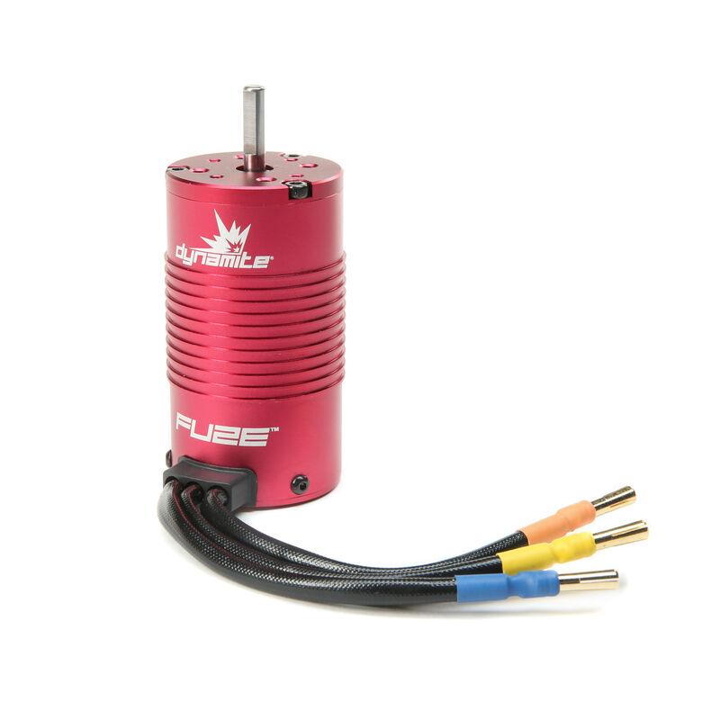 Fuze 1/8 4-Pole Sensorless Brushless Motor, 1600Kv: 4mm Bullet