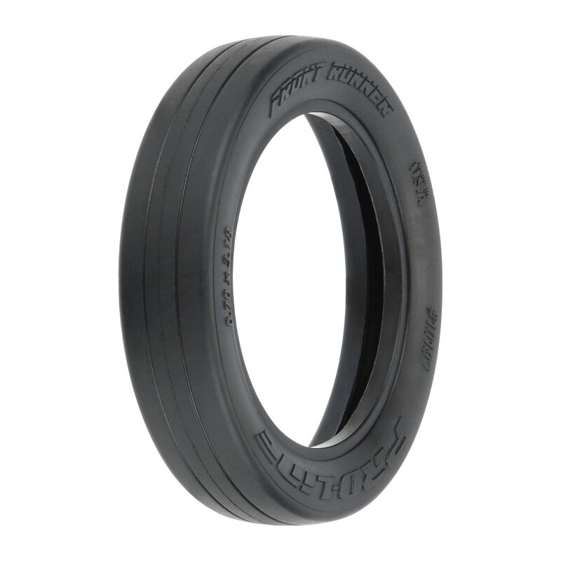 """1/10 Front Runner S3 2WD Front 2.2""""/2.7"""" Drag Racing Tire (2)"""