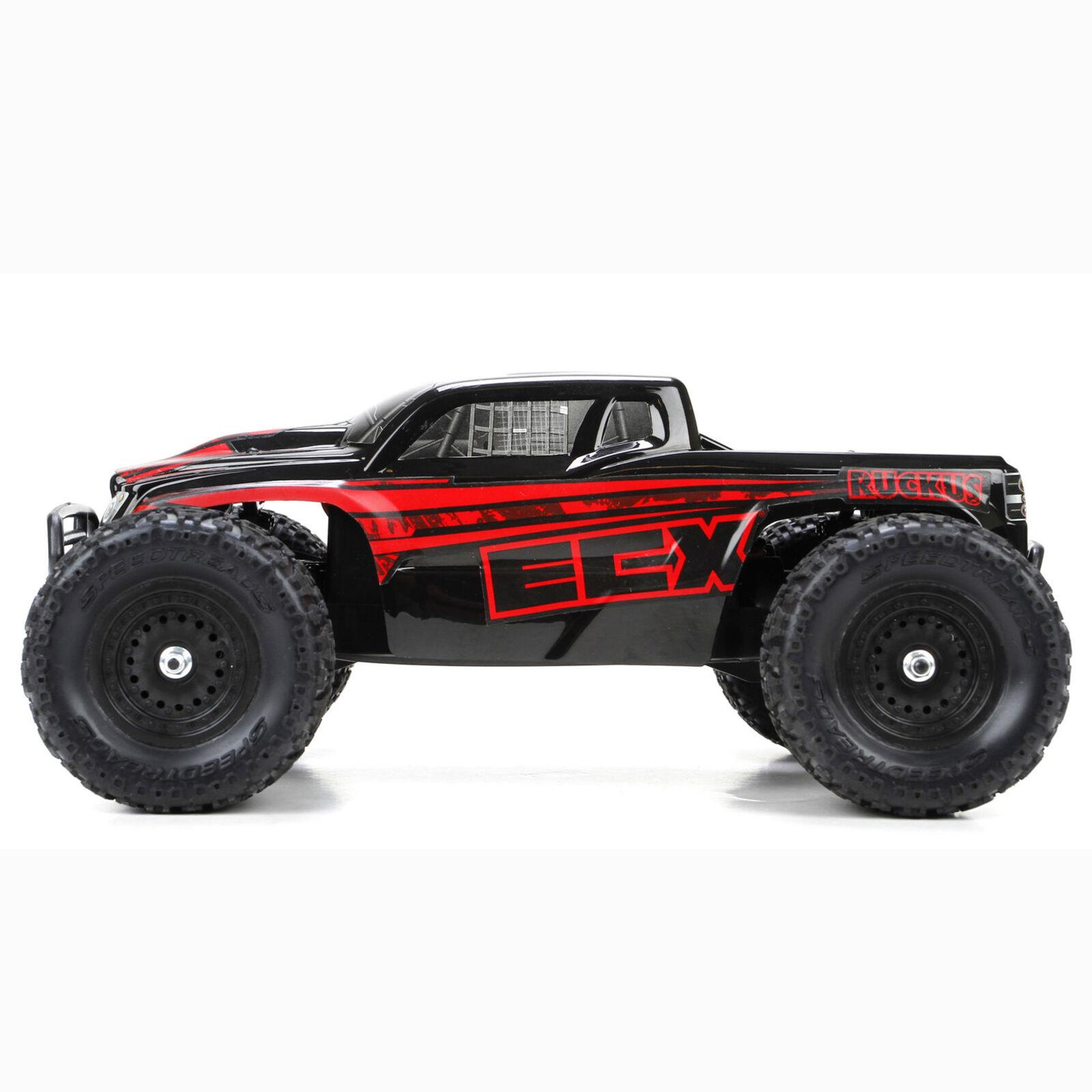 1/18 Ruckus 4WD Monster Truck RTR, Black/Red