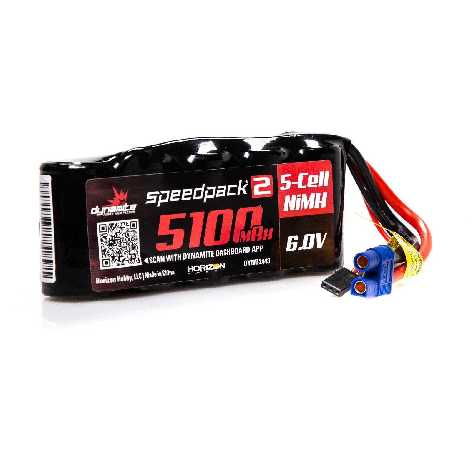 Speedpack2 6V 5100mAh 5C NiMH, Flat Receiver Pack