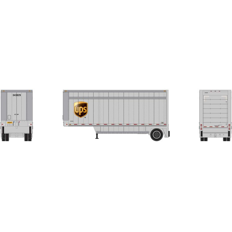 HO RTR 28' Drop Sill Trailer UPS with Shield #343829