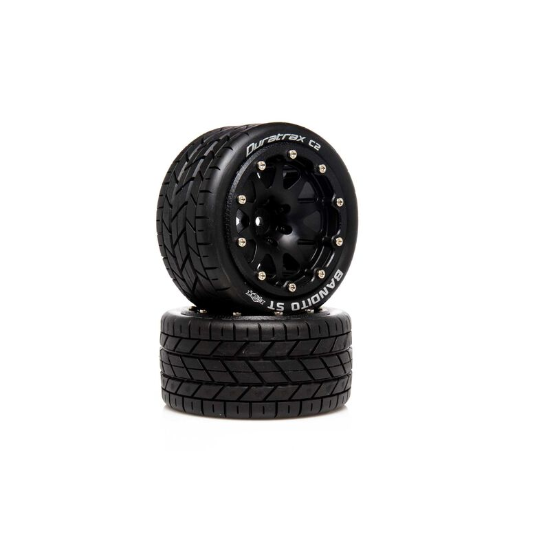 """Bandito ST Belted 2.8"""" 2WD Mounted Rear Tires, .5 Offset, Black (2)"""