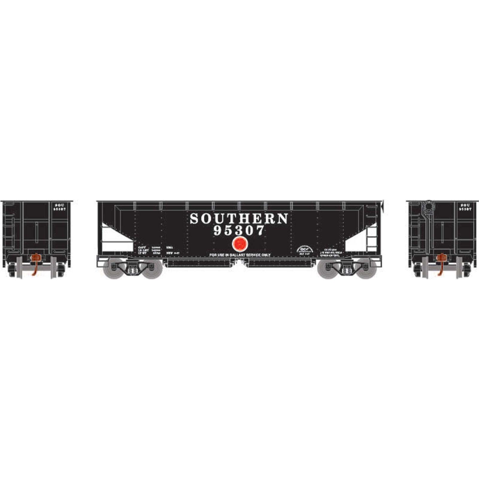 HO RTR 40' Offset Ballast Hopper with Load, SOU #95307