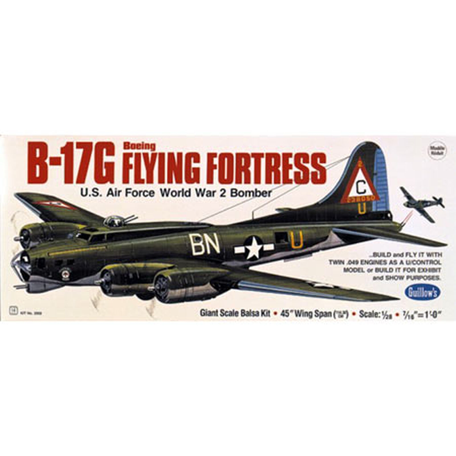 """Boeing B-17G Flying Fortress, 45.5"""""""