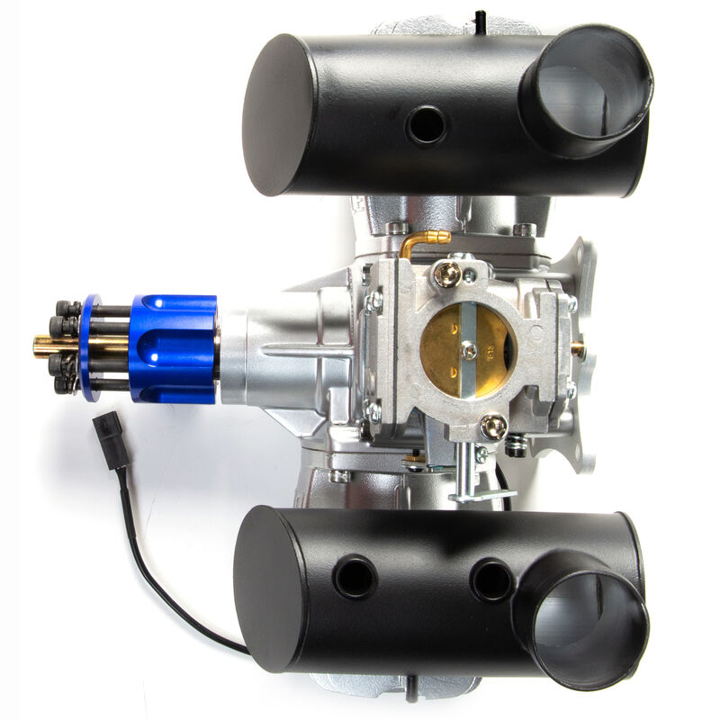 DLE-130cc Twin Gas Engine with Electric Ignition and Mufflers