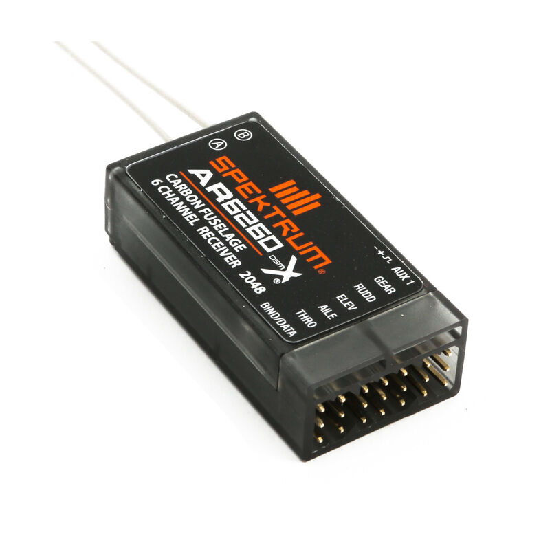 AR6260 DSMX 6-Channel Carbon Fuselage Receiver