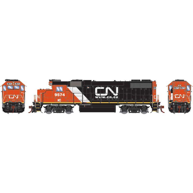 HO GP38-2 with DCC & Sound CN IC Website Logo #9574