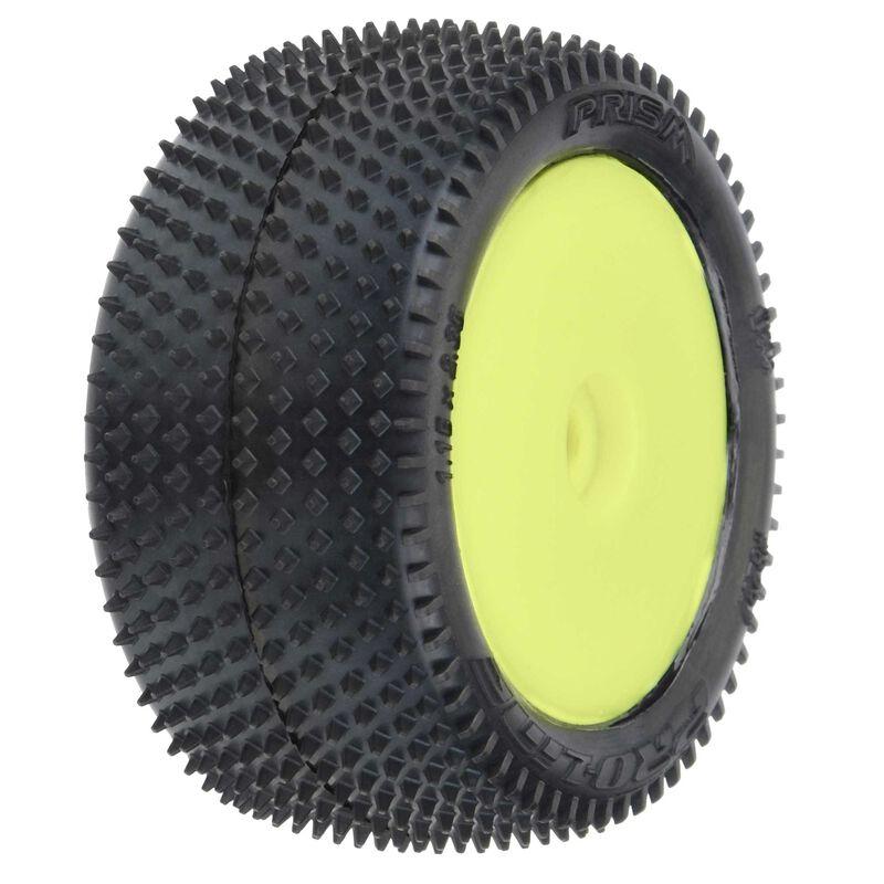Prism Carpet Mounted Rear Tires, Yellow: Mini-B