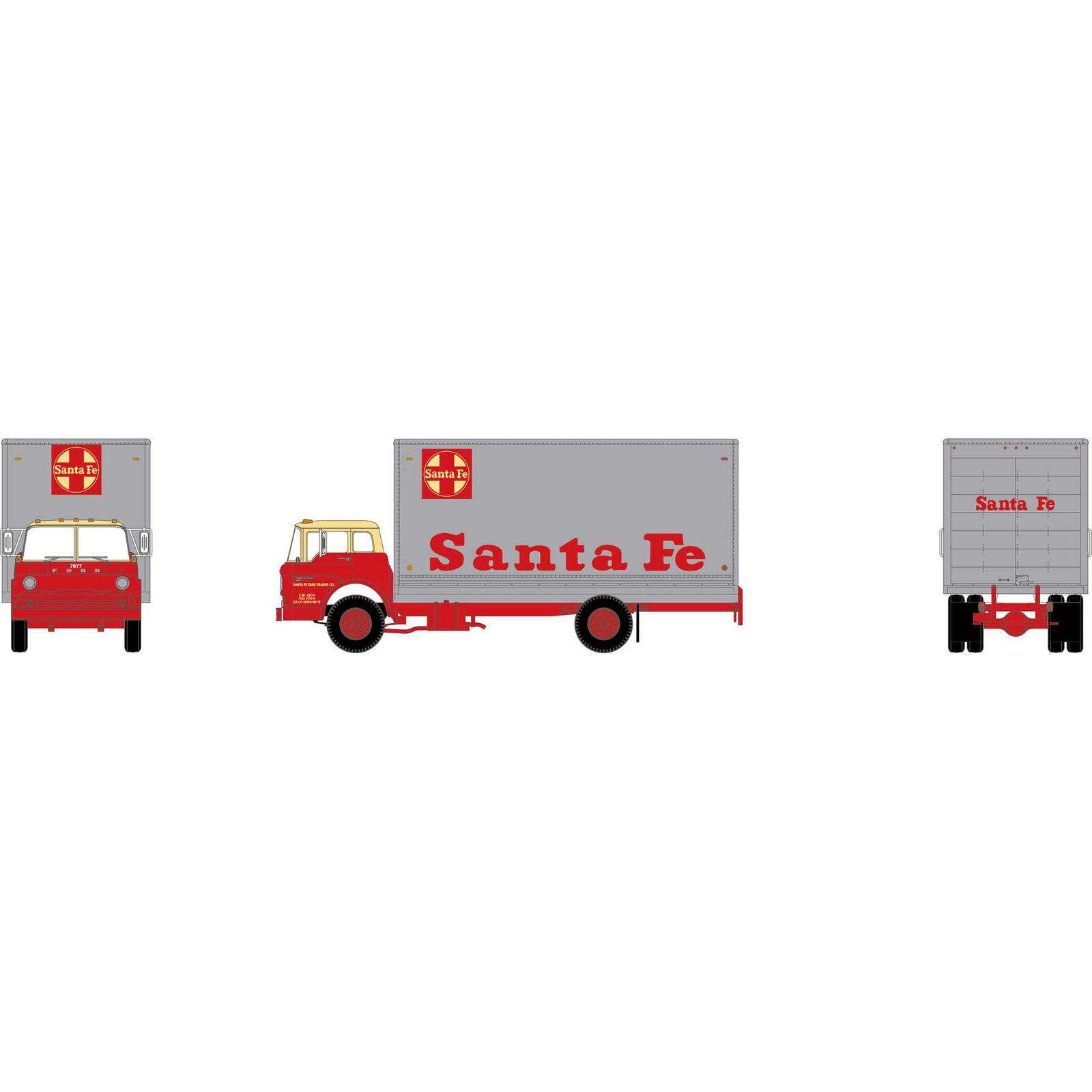 HO RTR Ford C Box Van, Santa Fe