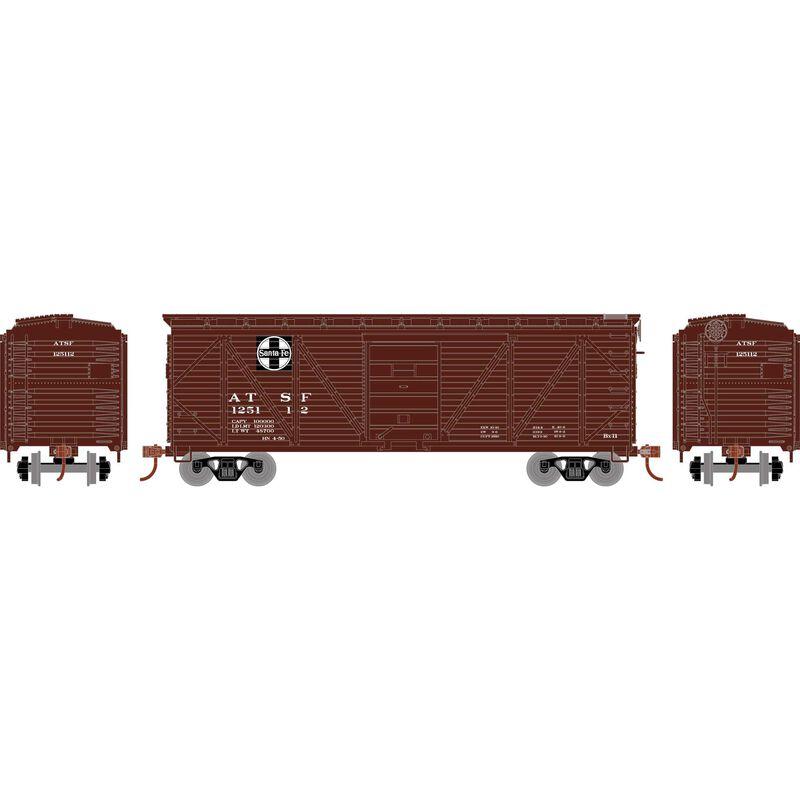 HO 40' Ribbed Wooden Box SF #125112