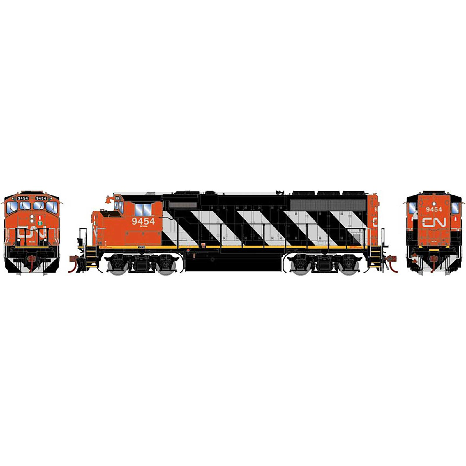 HO GP40-2L, CN #9454