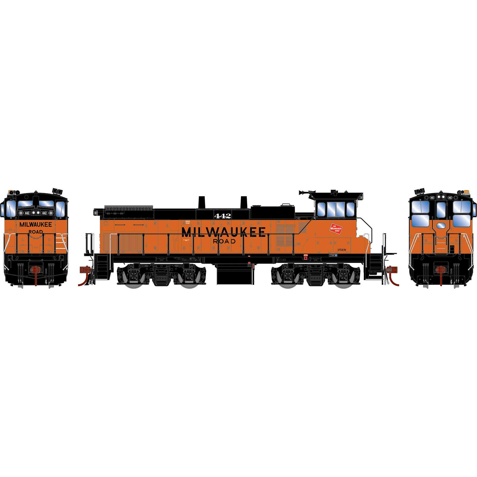 HO MP15AC with DCC & Sound, MILW #442
