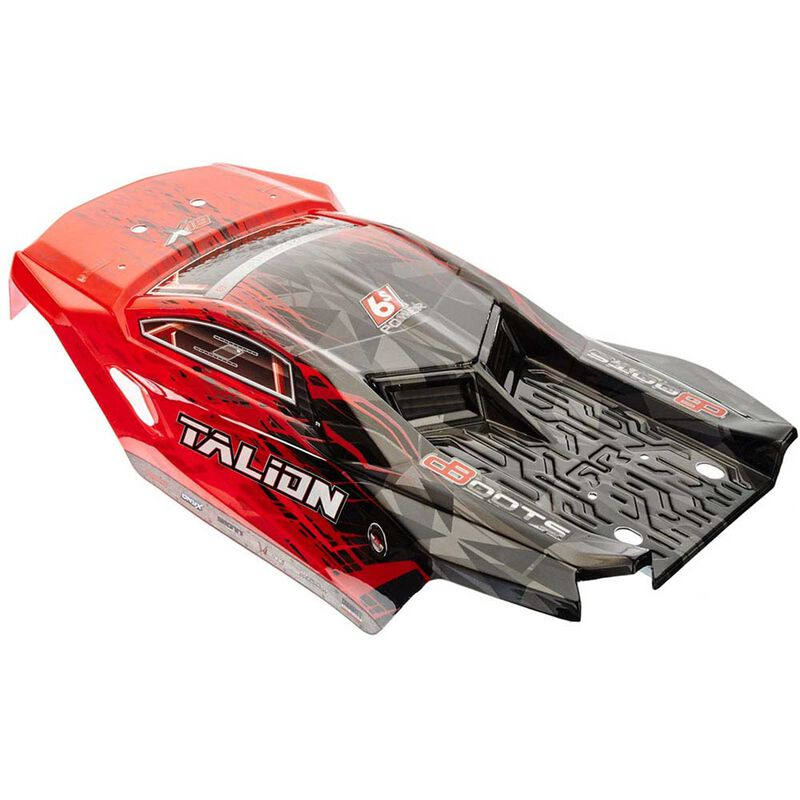 1/8 Painted Body with Decals, Red/Black: Talion 6S BLX