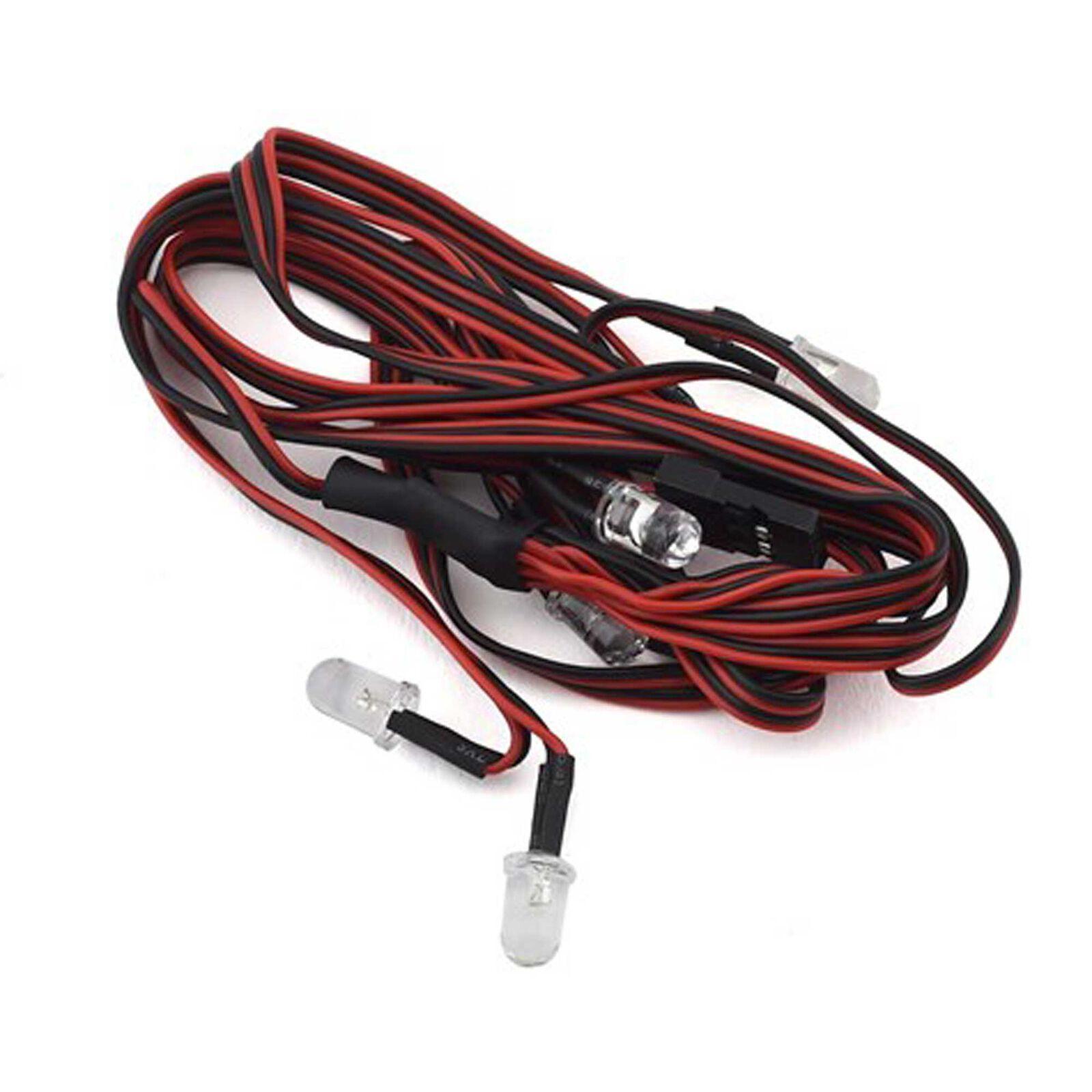 LED Light Set 5mm, Single White Dual Red