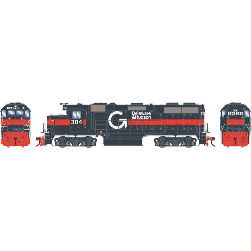 HO GP39-2 with DCC & Sound D&H Guilford #384
