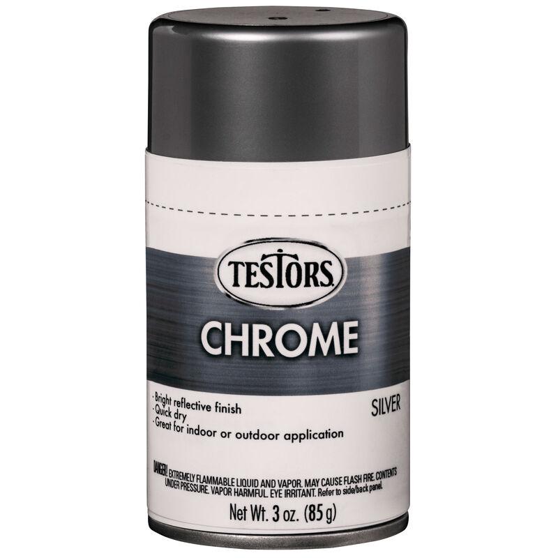Testors Craft 3oz Chrome Spray, Silver