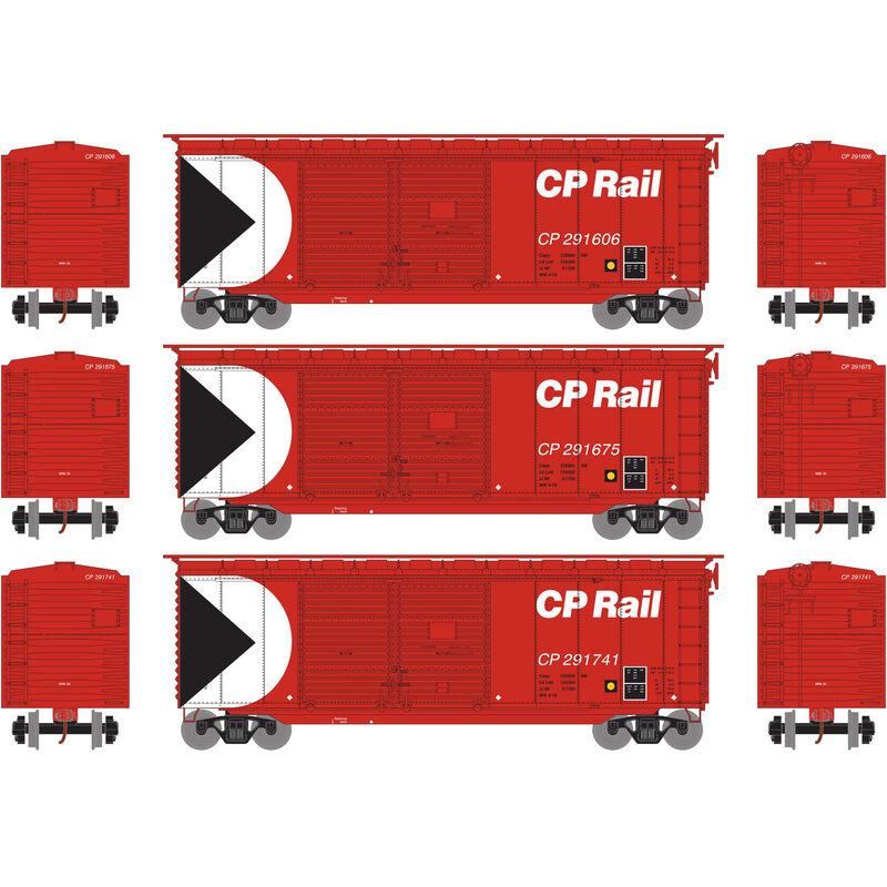 HO RTR 40' Double Door Box CPR (3)