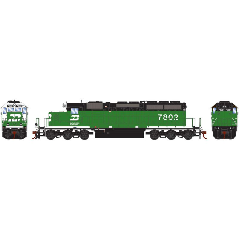 HO RTR SD40-2 with DCC & Sound BN #7802