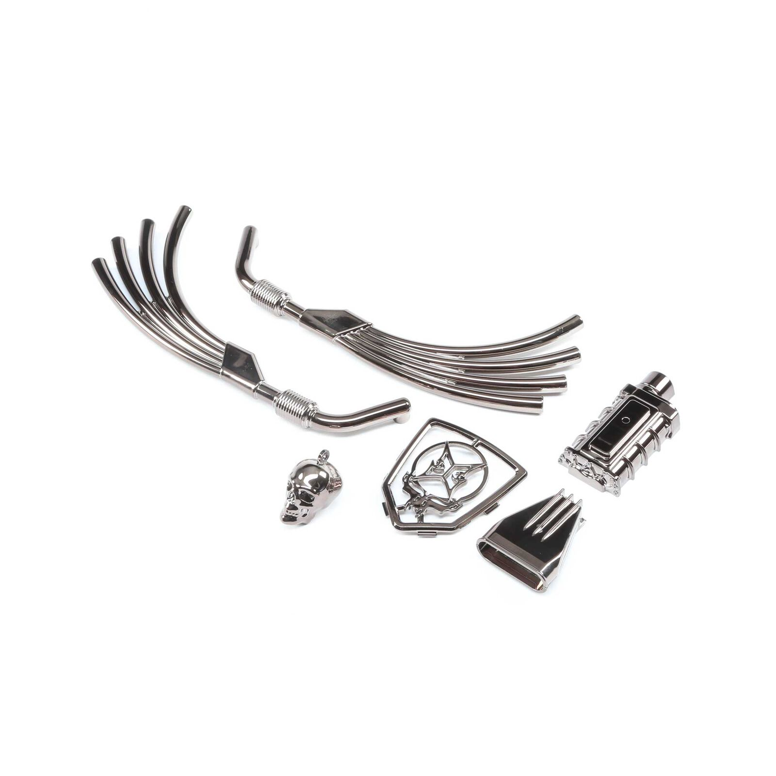 Motor, Exhaust and Grill Parts, Black Chrome: Doomsday