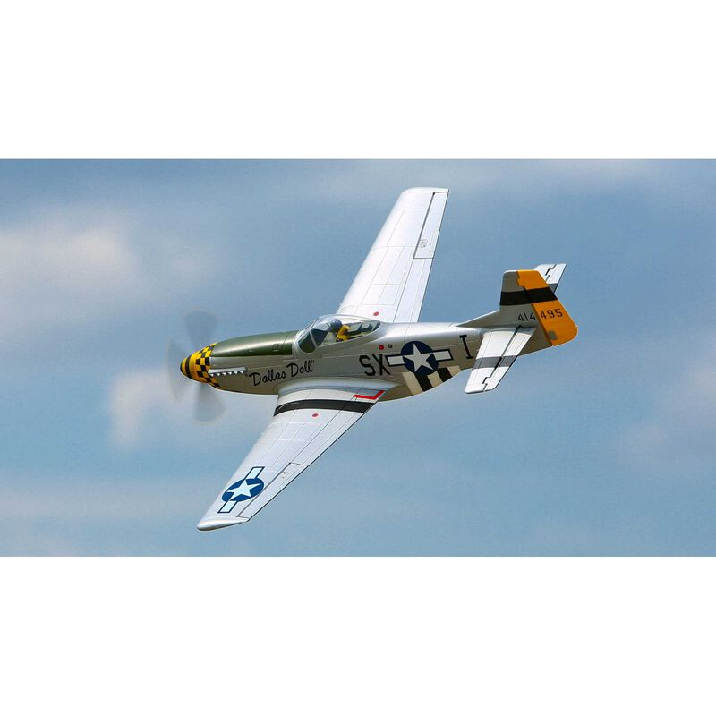 P-51D Mustang BNF Basic with AS3X Technology