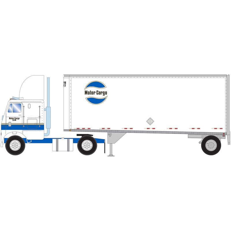 HO RTR FL-2 Axle with 28' Trailer Motor Cargo