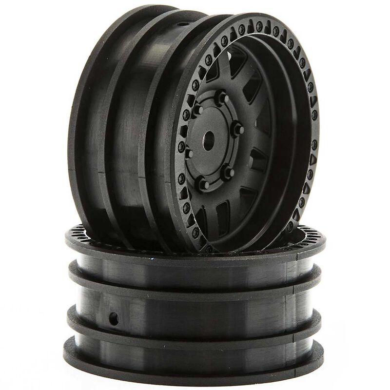 1/10 KMC XD Machete 1.9 Wheels, 12mm Hex, Black (2)