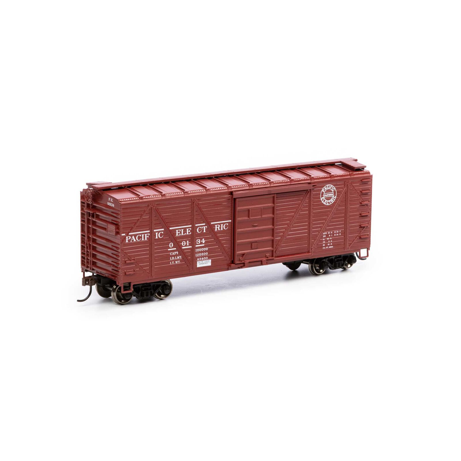HO 40' Ribbed Wooden Box PE #00134