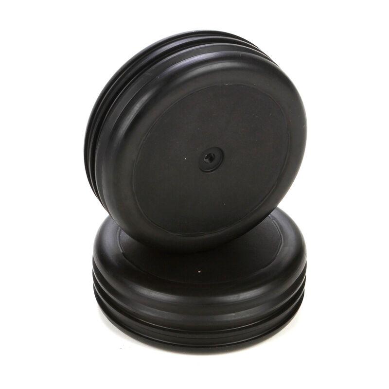 Front Tire, Premount, Black Wheel (2): 1/10 2WD Boost