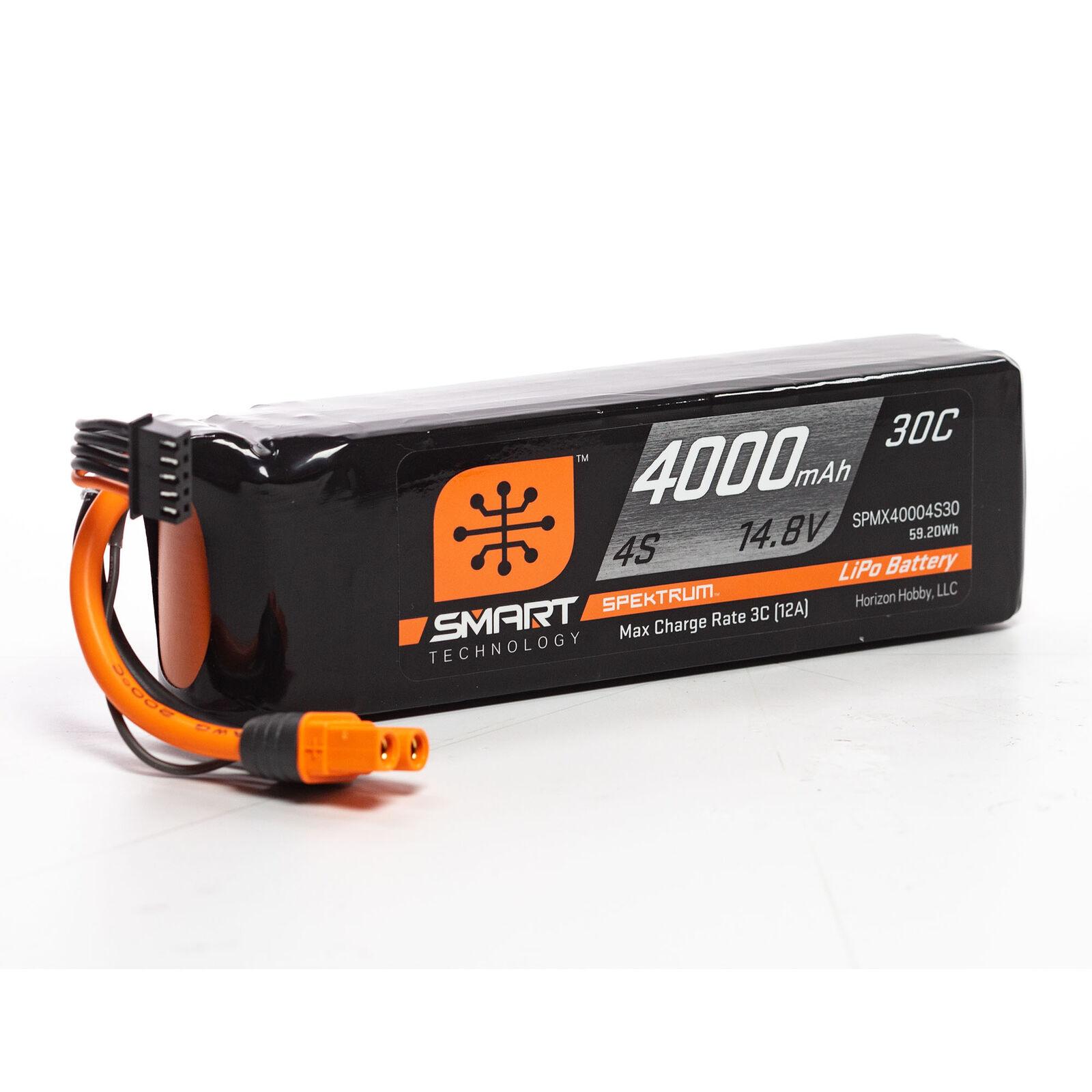 14.8V 4000mAh 4S 30C Smart LiPo Battery: IC3